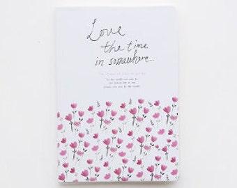 Floral-  notebook, Minimalist blank Notebook, Journal, Planner, Journal Insert, Planner Insert