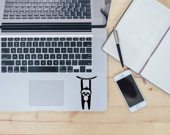 Sloth decal for laptop, car, macbook, wall 46