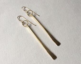 Brass Stem Earrings