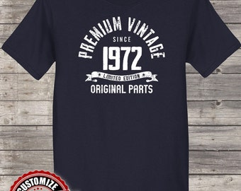Premium Vintage Since 1972, 46th birthday gifts for Men, 46th birthday gift, 46th birthday tshirt, gift for 46th Birthday Party