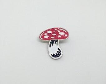 magic mushroom lapel / enamel pin