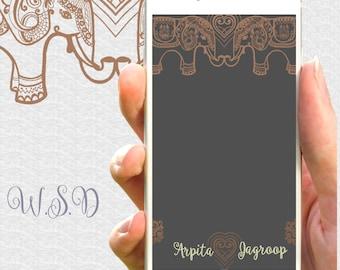 Indian Wedding Snapchat filter: Punjabi wedding filter, Sikh snapchat filter, Snapchat filter elephants,  Personalized filter