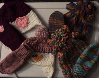 Child Hat and Mitten Sets
