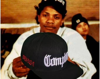 NWA Compton Snapback 3D Embroidery Eazy-E Retro Design Eazy-Duz-It