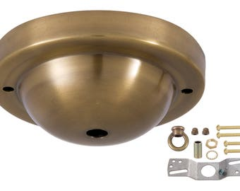Antique Brass Canopy & Hardware Kit with Matching Finish