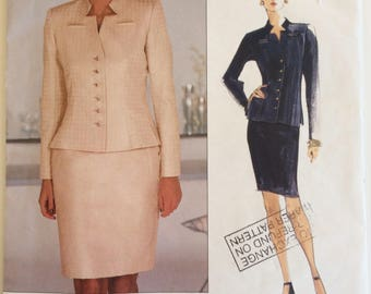Vogue American Designer sewing pattern 2273 - Bill Blass - Misses' petite jacket and skirt