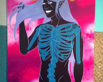 The Singularity A4 anime demon boy art print, bishounen art work, manga boy print, fantasy, gothic art sprint, space art, galaxy