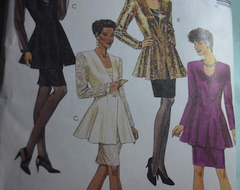 McCalls 5659 Misses Lined Jacket Tank Top and Skirt Sewing Pattern - UNCUT - Size 16