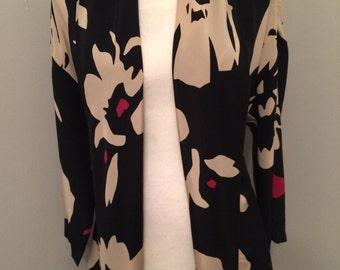 Jacket/blouse in silk