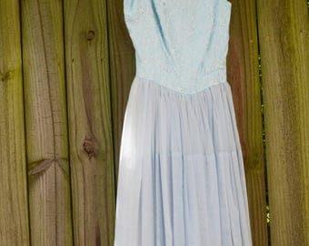 1950s Powder Blue Dress