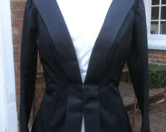 Black  Pure Silk Jacket UK size 10