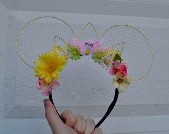 Rapunzel Mickey Ears, Tangled Mouse Ears, Princess Minnie Ears, Floral Ears