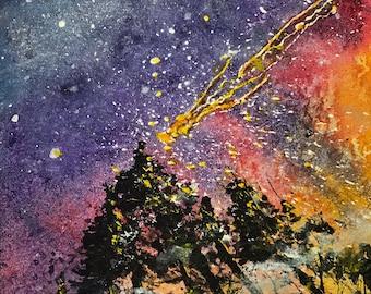 Comet (Original Watercolor Painting)