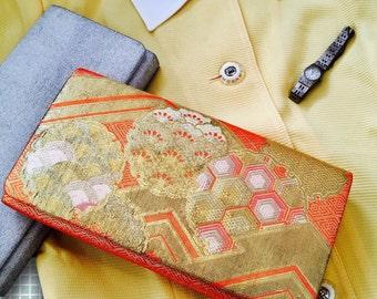 Japanese vintage 1970's kimono clutch bag