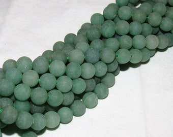 10MM MATTE GREEN Aventurine / gemstone
