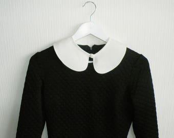 White detachable collar, white Peter pan collar, white removable collar, ladies collar, white textile collar necklace, fake collar