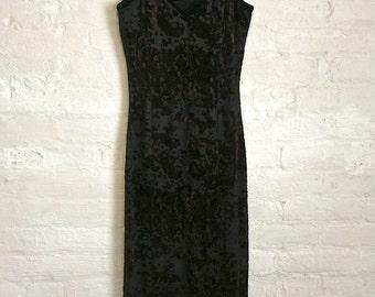 Velvet Flocked Maxi Dress