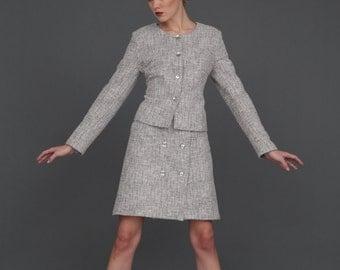 Elegant Blazer / Melange Buttons Up Cardigan / Minimalist Style by BATTIBALENO / V8352