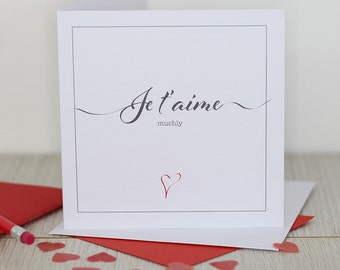Love card - Je t'aime muchly
