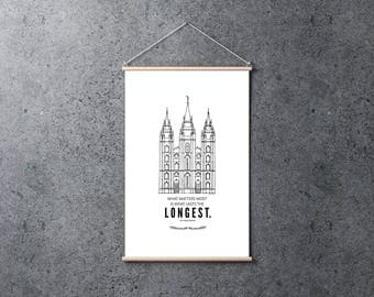 Salt Lake Temple Print | Poster 24x36 | Digital Print | Instant Download | Inspirational | LDS Quote