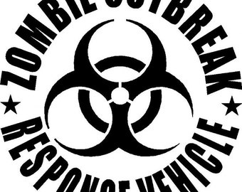 Zombie Outbreak Response Vehicle Decal Sticker Car Window