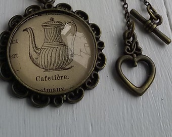 Geeky ''Cafetière'' long necklace