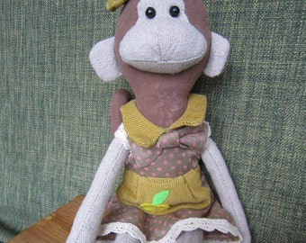 Monkey Stuffed Monkey Animal Soft Toy