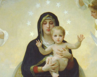 The Virgin With Angels  Art Poster Print  William Bouguereau