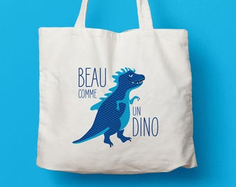 "Canvas bag / Tote bag ""beautiful as a Dino"""