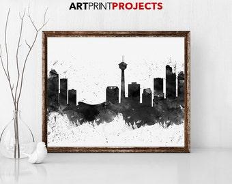 Calgary Skyline, Calgary Poster, Calgary Decor, Calgary Print, Calgary Wall Art, Calgary Gift,  Wall Decor, Calgary Canada, ArtPrintProjects