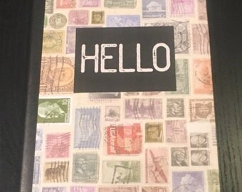 Stamps, lined journal