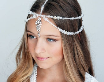 Bridal Headpiece, Bridal Headband, Wedding Hair Jewelry, Bridal Hair Chain, Wedding Hair Accessories, Bridal Hair Clip