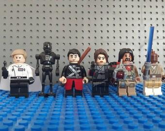 x6 Star Wars: Rogue One Minifigures - Custom Set - Jyn - Lego Compatible