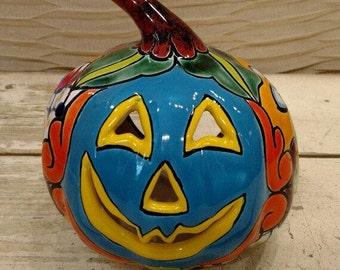 Talavera / Talavera Pumpkin / Talavera Jack O Lathern / Calabaza / Pumpkin / Mexican Talavara Pumpkin