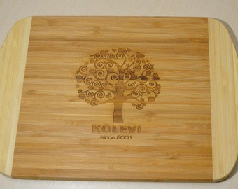 Bamboo Cutting board,Personalized Cutting Board, Engraved Cutting Board, Personalized Wedding Gift, Housewarming Gift, Anniversary Gift