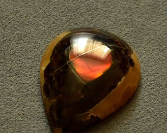 44 х 32 mm Red ammolite gemstone cabochon