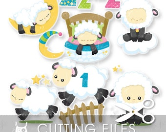 Sheep cutting files, svg, dxf, pdf, eps included - cutting files for cricut and cameo - Cutting Files SVG - CT952