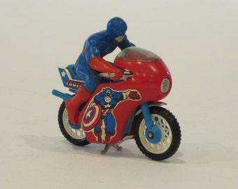 Captain America figurine on Motorcycle