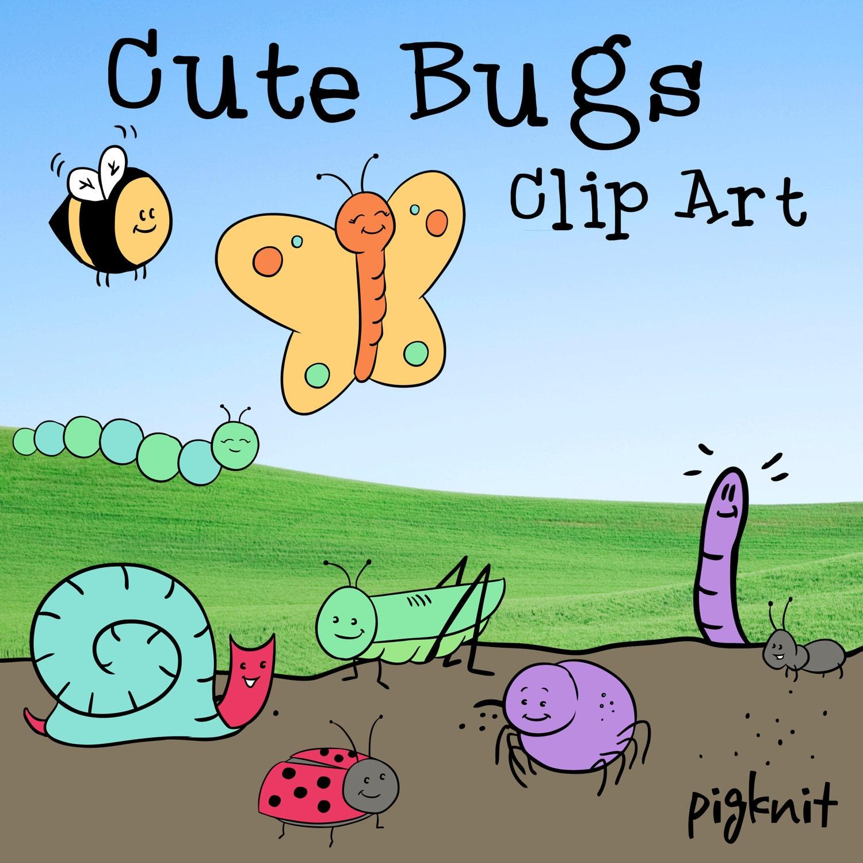 cute bug clipart. this is a digital file cute bug clipart