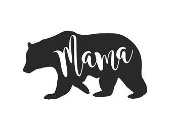 Mama Bear IRON ON Transfer Decal Heat Transfer Vinyl Mama Bear Shirt Mother's Day Mom Shirt