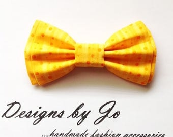 Boys Bow Tie, Orange-Yellow Bow Tie,Boy's Bow Tie, Bar Mitzvah Bow Tie, Wedding Bow Tie, Orange Tie for Men,Baby Bow Tie,Easter Bow Tie B676