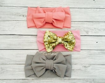 BABY GIRL headbands, baby girl newborn girl, going home outfit, coming home baby girl, baby girl, newborn girl, baby headbands set, baby bow