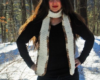 Scarf, Crocheted Scarf, long scarf, crochet knit scarf, chunky scarf, handmade, long warm scarf, womens.