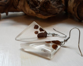 FREE SHIPPING clear resin Earrings//gift for you//birthday gift