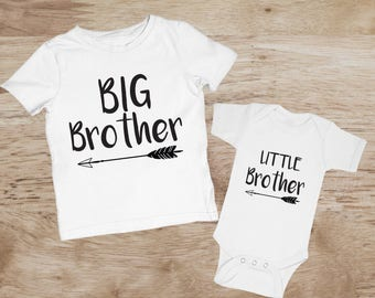Big Brother Little Brother Shirts, Matching Brother Outfits, Sibling Matching Shirts, Big Brother Little Brother Outfits