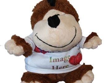 Personalised Cuddly Soft Monkey Toy Comes With Its Own T Shirt