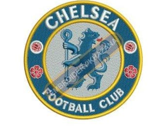 Chelsea football logo embroidery design instant download