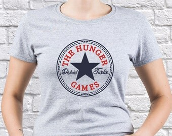 The Hunger Games/ District 12/ Mockingjay/ women tshirt/ District 12 tshirt/ District 12 tee/ Mockingjay tshirt/ Mockingjay shirt/ (HG03)