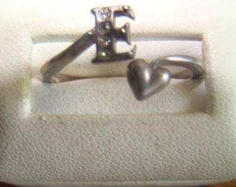 SALE Nice Vintage Sterling Silver Ring