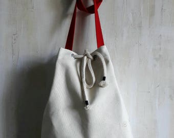 "Shoulder bag ""Seemannsgarn"" bird on the wire"